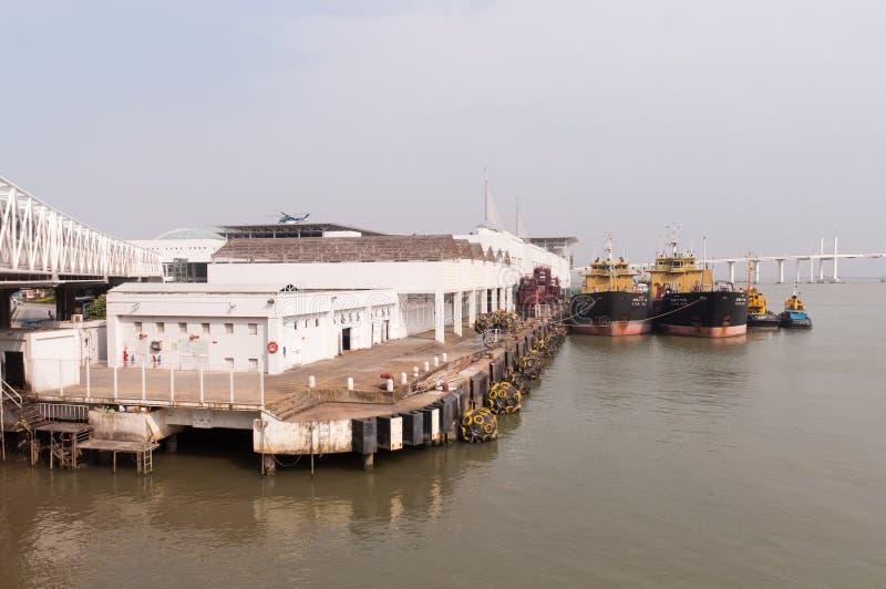 Terminal de balsa, macau imagens de stock royalty free