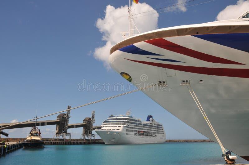 Terminal de bateau de croisière de Bridgetown images stock
