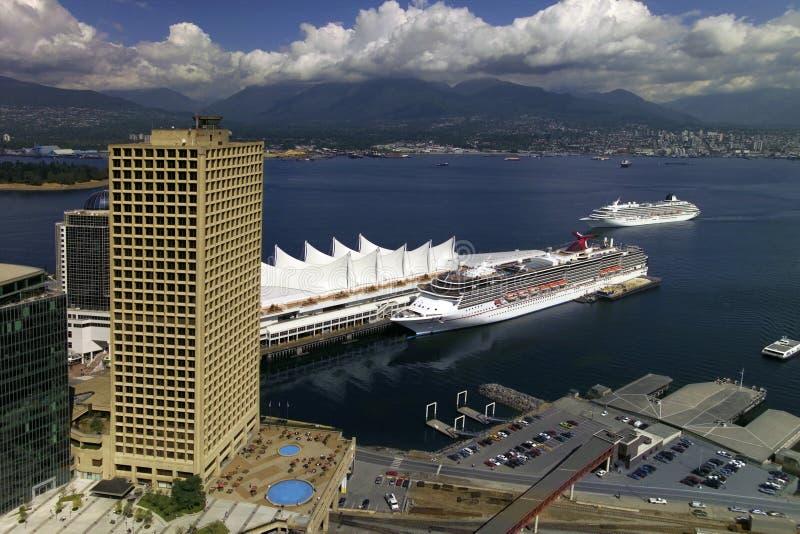 Terminal de bateau de croisière de Vancouver - Canada images libres de droits