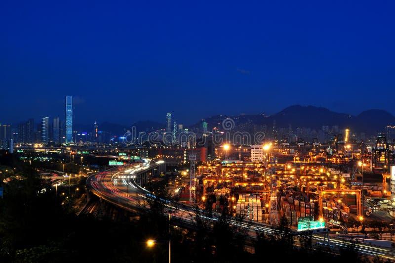 Terminal de conteneur de Hong Kong image libre de droits