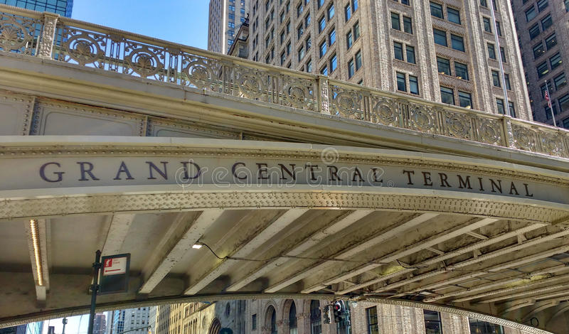 Terminal de Grand Central, station de Grand Central, viaduc de Park Avenue, viaduc de place de Pershing, New York City, NYC, NY,  images stock