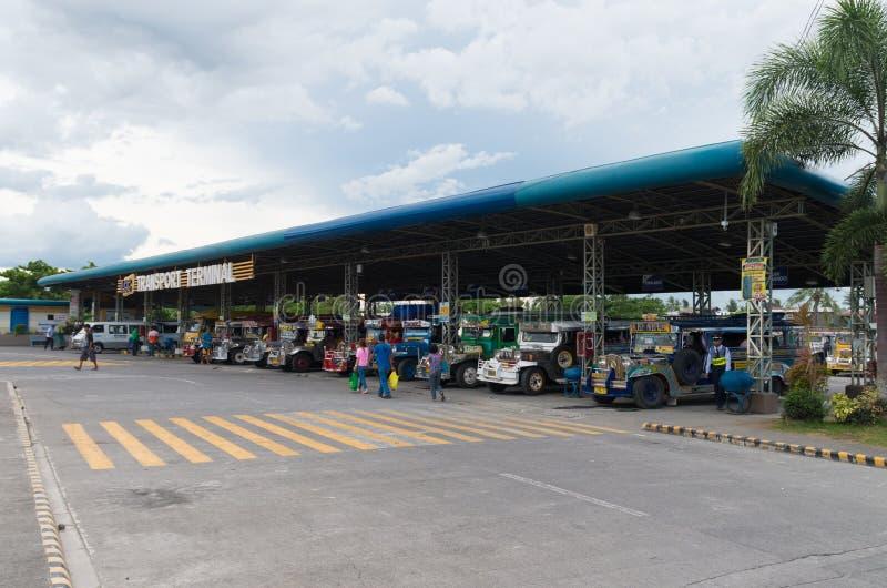 Terminal de Jeepney fotografia de stock royalty free