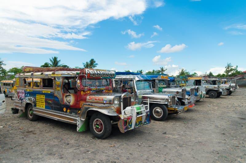 Terminal de Jeepney imagens de stock