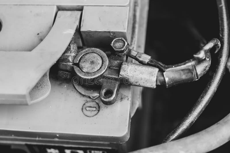 Terminal de la batería de coche fotografía de archivo