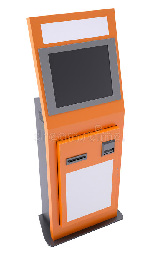 Terminal de la información con la pantalla táctil imágenes de archivo libres de regalías