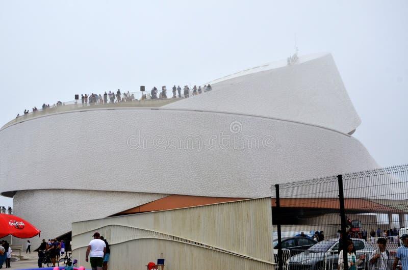 Terminal de la travesía de Matosinhos en Portugal imagen de archivo