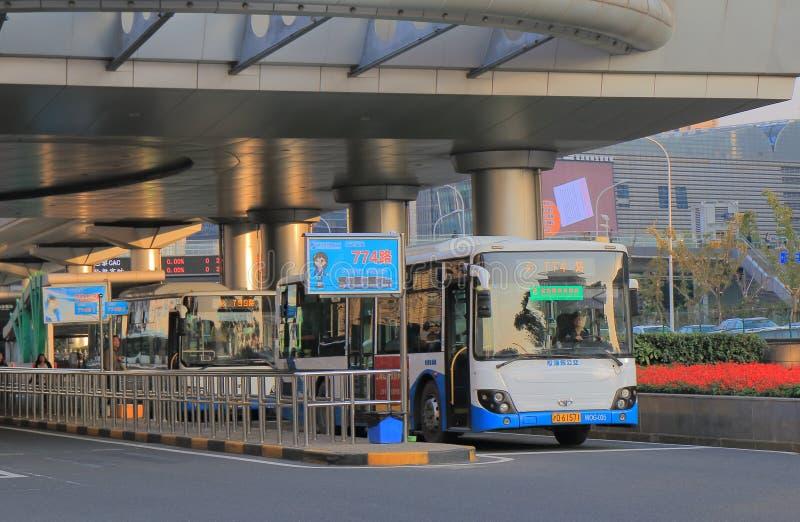 Terminal de ônibus Shanghai de Pudong China fotografia de stock