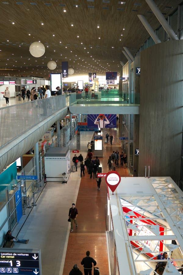 Terminal 2 de París Charles de Gaulle Airport fotografía de archivo