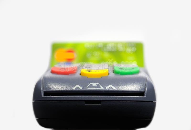 Terminal de position et traitement par la carte de crédit images libres de droits