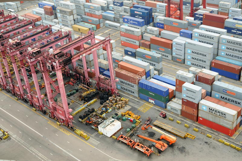 Terminal de recipiente de Hong Kong Kwai Chung foto de stock royalty free
