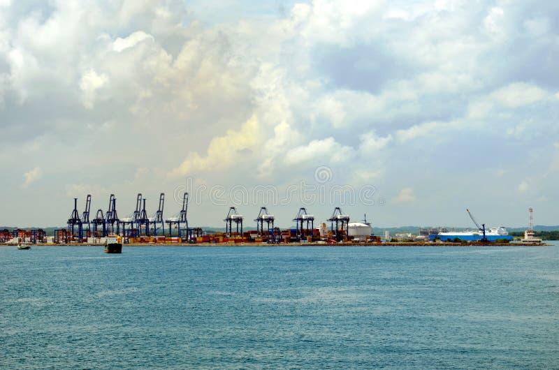 Terminal de recipientes no porto de Cristobal, Panamá imagens de stock