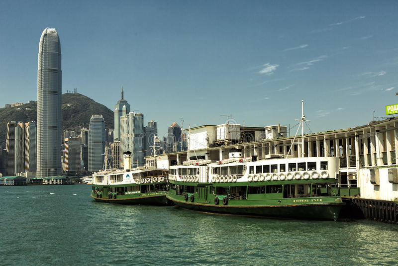 Terminal de transbordadores de Hong Kong Star imagen de archivo libre de regalías