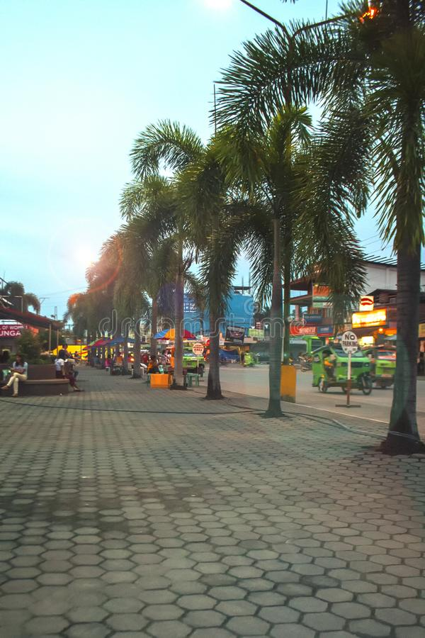 Terminal de Trasport da cidade de Tagum, Tagum Davao del Norte, Filipinas imagem de stock