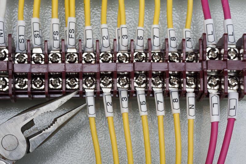 Terminal del conector del alambre foto de archivo