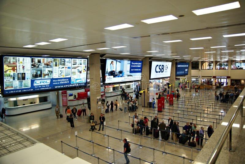 Terminal del International del aeropuerto de Malta fotografía de archivo