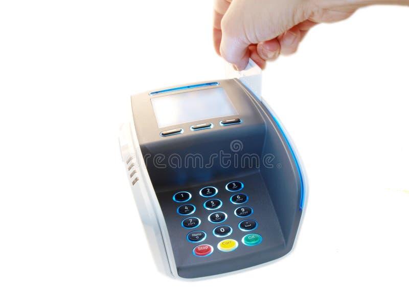 Terminal del pago imagen de archivo
