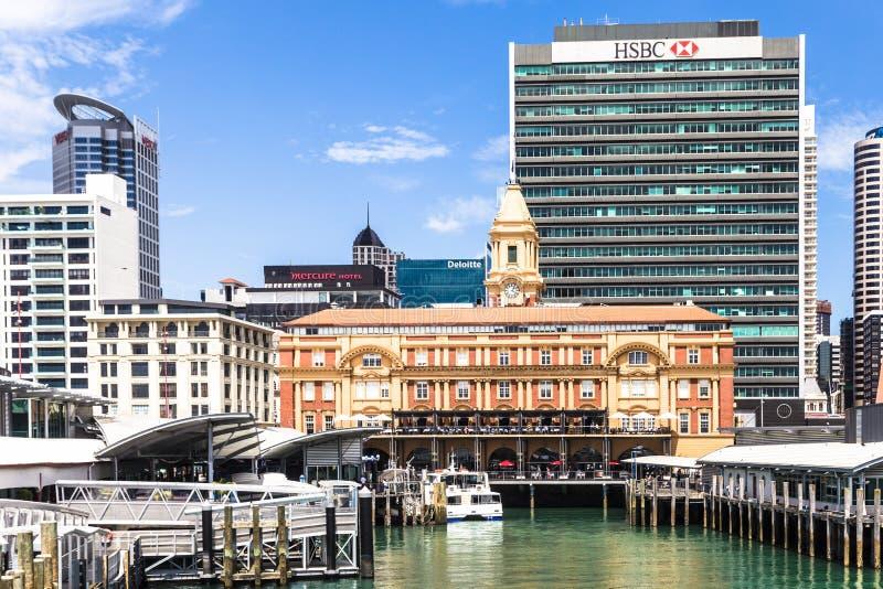 Terminal del traghetto di Auckland fotografie stock libere da diritti