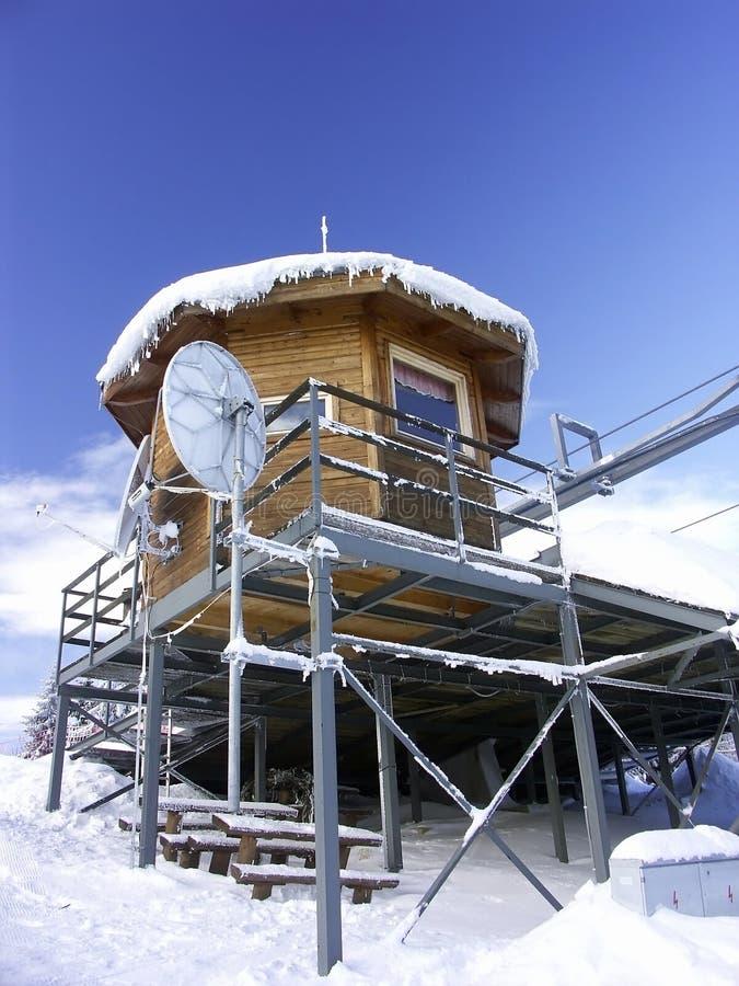 Terminal do elevador de esqui foto de stock royalty free