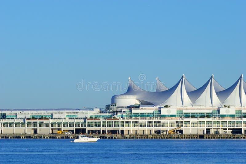 Terminal do navio de cruzeiros do lugar de Canadá, Vancôver, BC imagem de stock