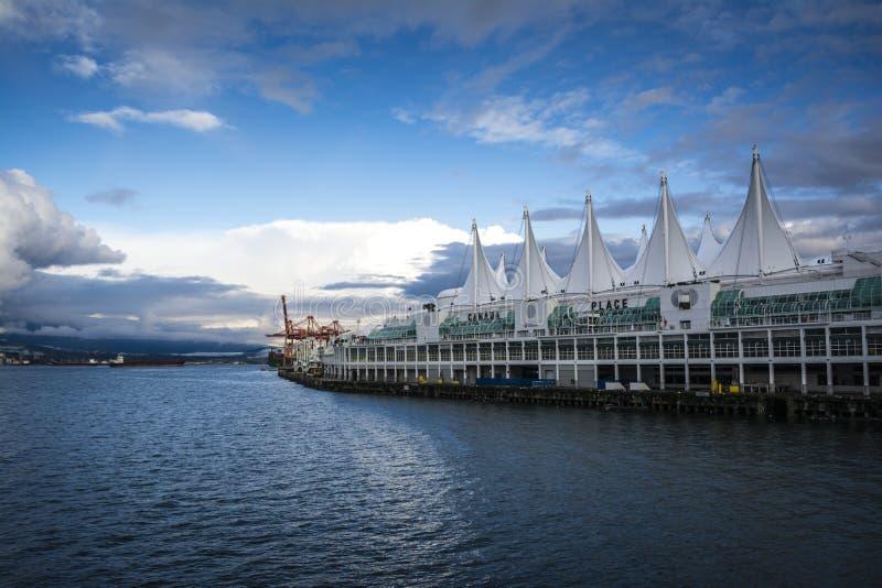 Terminal do navio de cruzeiros em Vancôver, Canadá imagens de stock royalty free