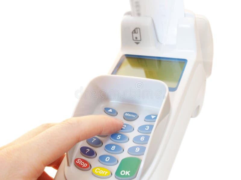 Terminal do pagamento imagem de stock