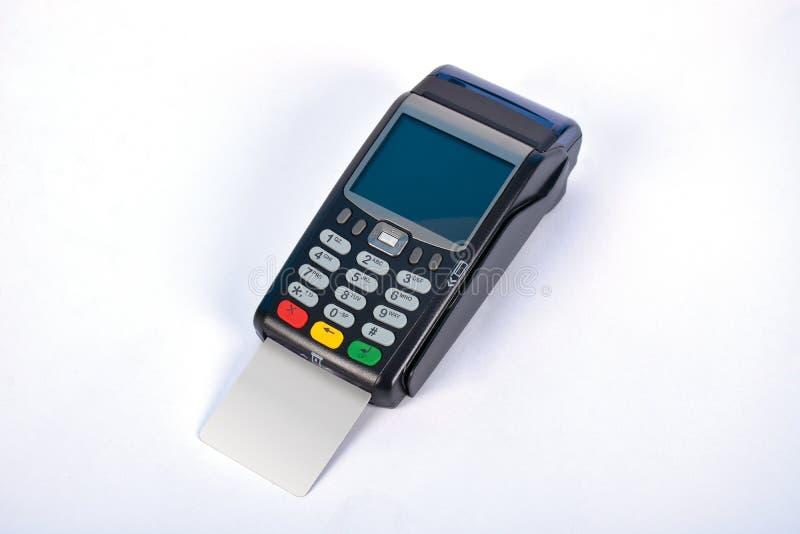 Terminal do pagamento GPRS da posição com cartão de crédito imagens de stock