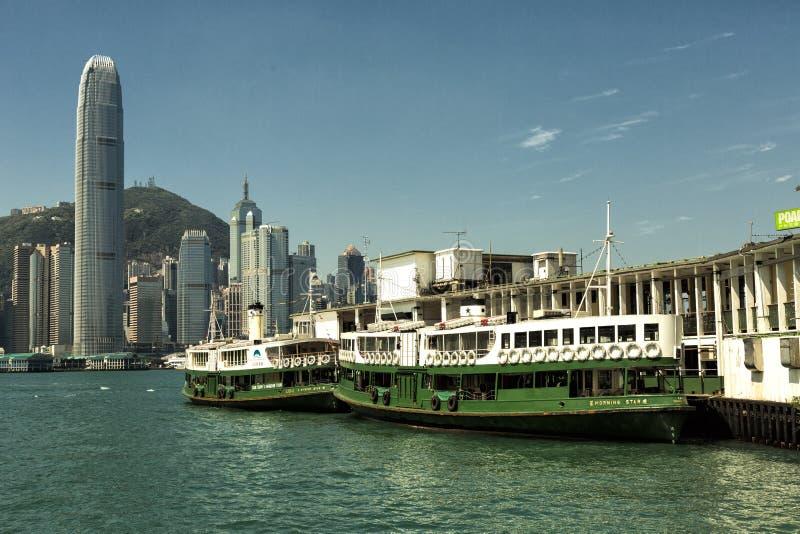 Terminal du ferry de Hong Kong Star image libre de droits