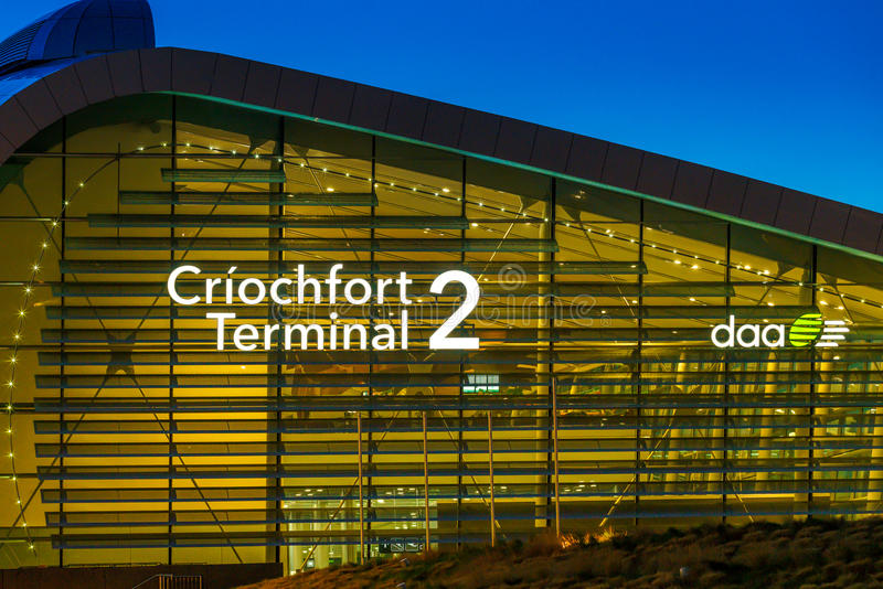 Terminal 2 Dublin lotnisko zdjęcia stock