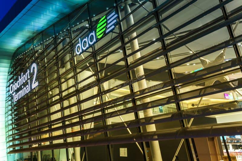 Terminal 2 Dublin lotnisko obraz stock