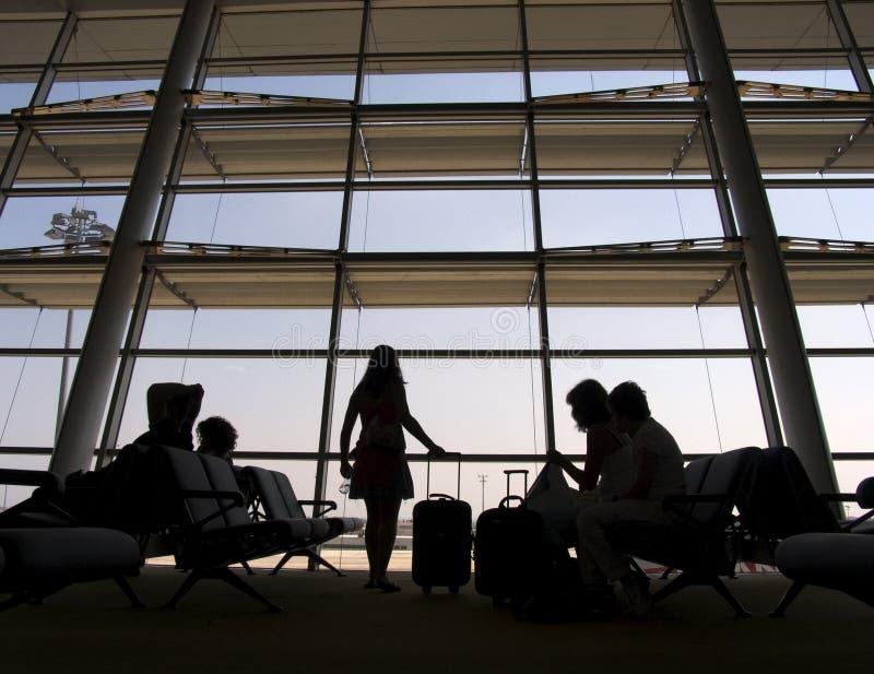 terminal för 3 flygplats arkivbild