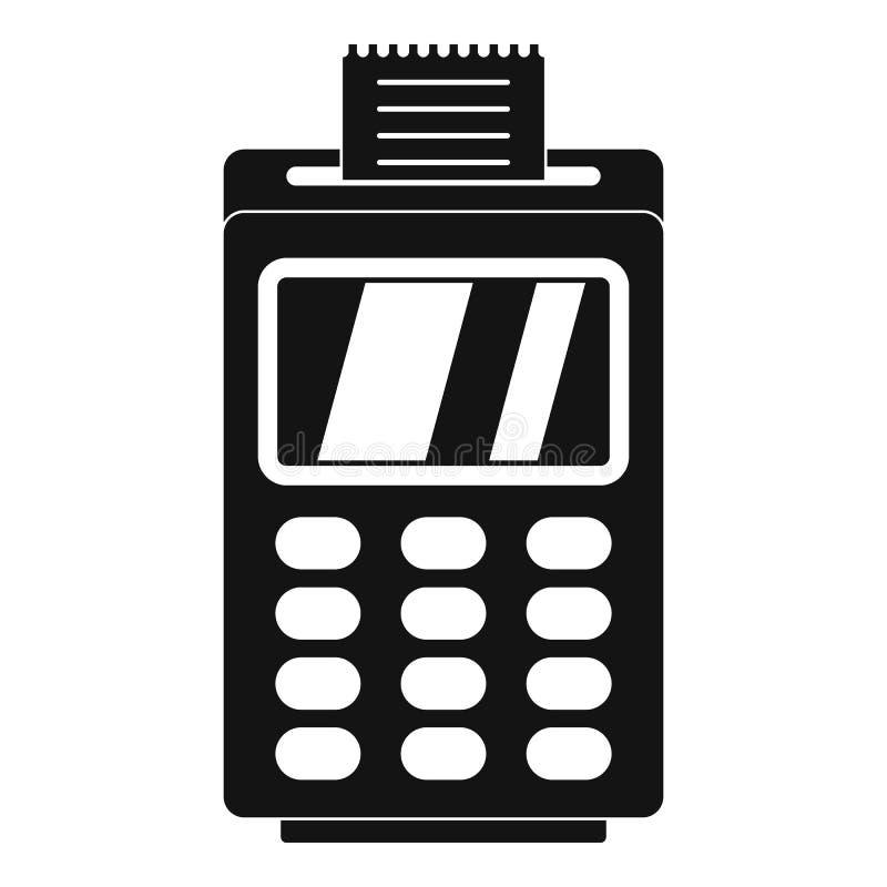 Terminal för den cashless betalningsymbolen, enkel stil stock illustrationer