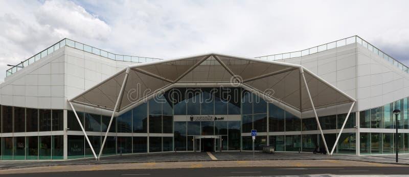 Terminal ferroviaire dans Logrono, Espagne images stock