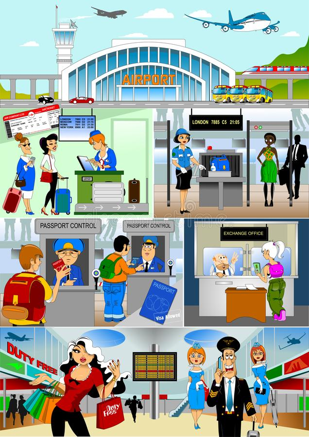 terminal royaltyfri illustrationer