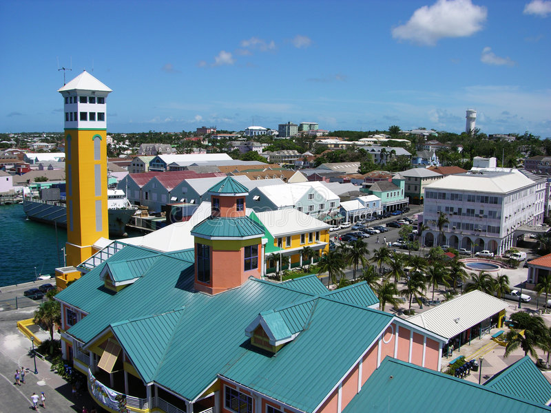 Terminal gauche de Nassau image libre de droits