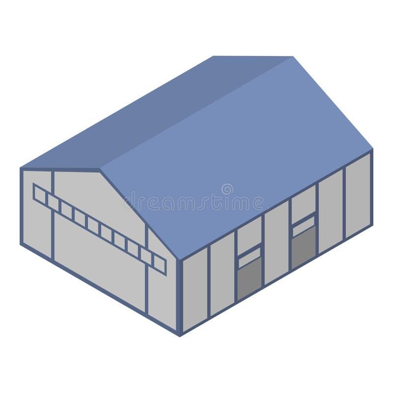 Terminal hangar icon, isometric style. Terminal hangar icon. Isometric of terminal hangar vector icon for web design isolated on white background royalty free illustration