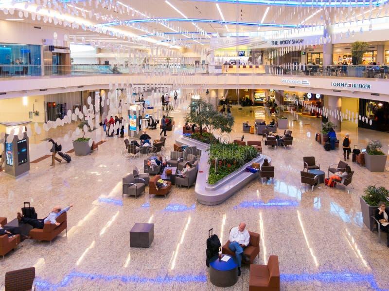 Terminal internacional de Maynard Jackson no aeroporto de Atlanta, EUA fotos de stock