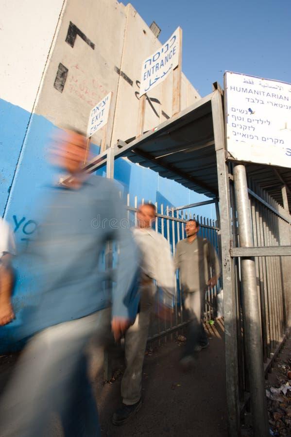 Terminal israélien de point de reprise photos stock