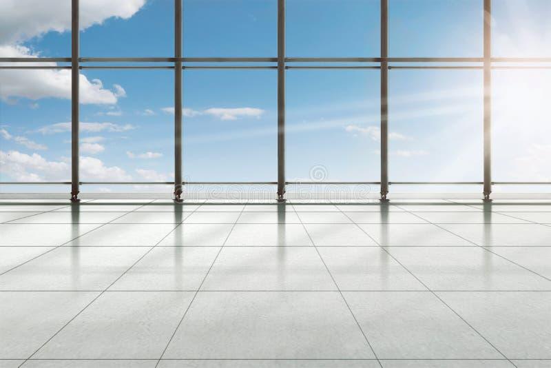Terminal moderne d'aéroport photographie stock