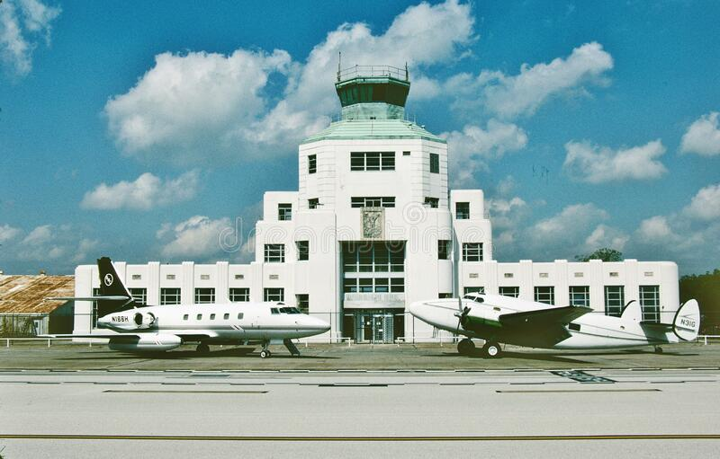 The 1940 terminal Museum at William P . Hobby Airport Texas . Taken in May 2005. The 1940 terminal Museum at William P . Hobby Airport Texas  KHOU. Taken in May royalty free stock photos