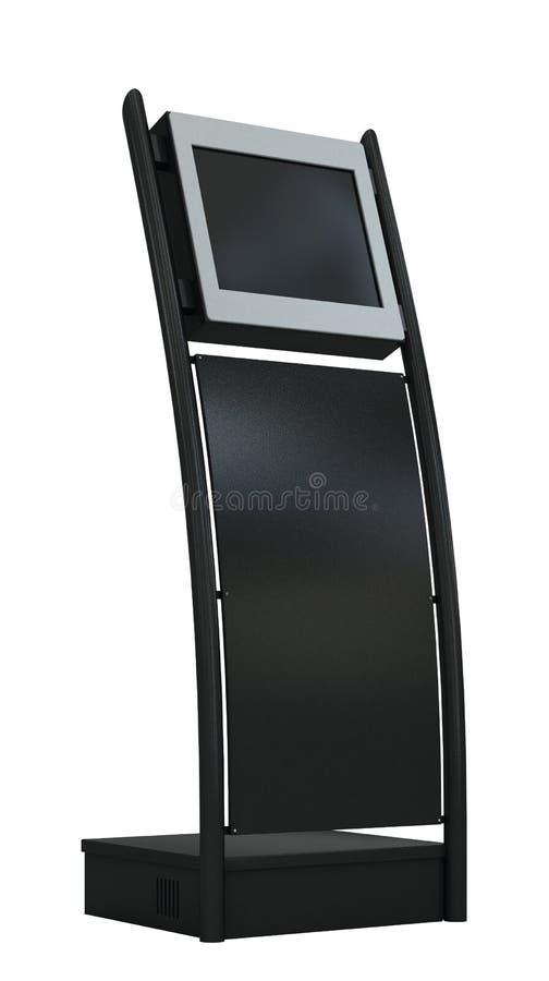 Terminal negra del pago aislada en blanco. ilustración del vector