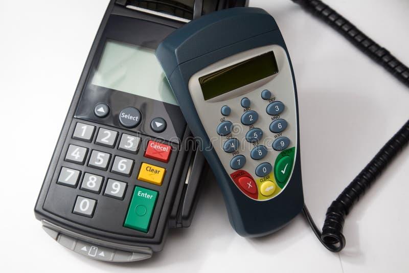 Terminal par la carte de crédit. images stock