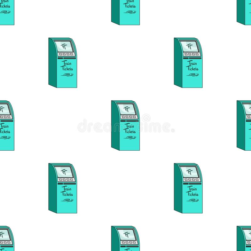 Terminal pour des billets de train Terminaux en Web isométrique d'illustration d'actions de symbole de vecteur illustration de vecteur