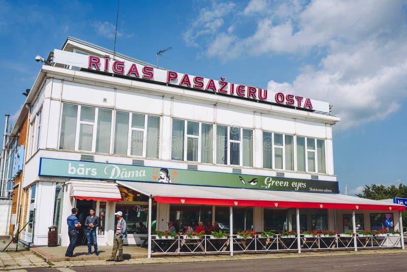 Terminal pour passagers de Riga, Lettonie images libres de droits