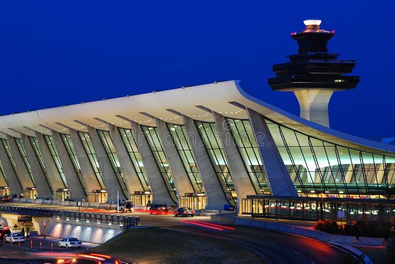 Terminal principal del aeropuerto internacional de Dulles fotografía de archivo libre de regalías