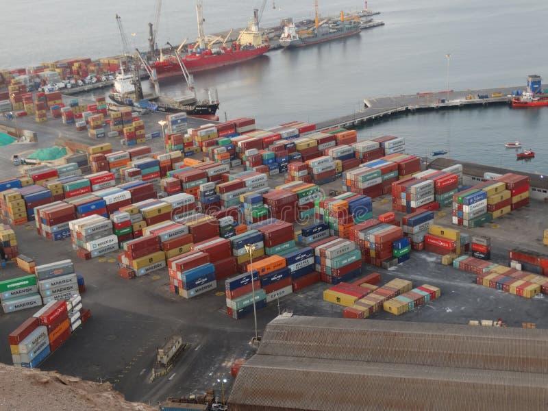 Terminal-puerto arica stockfoto