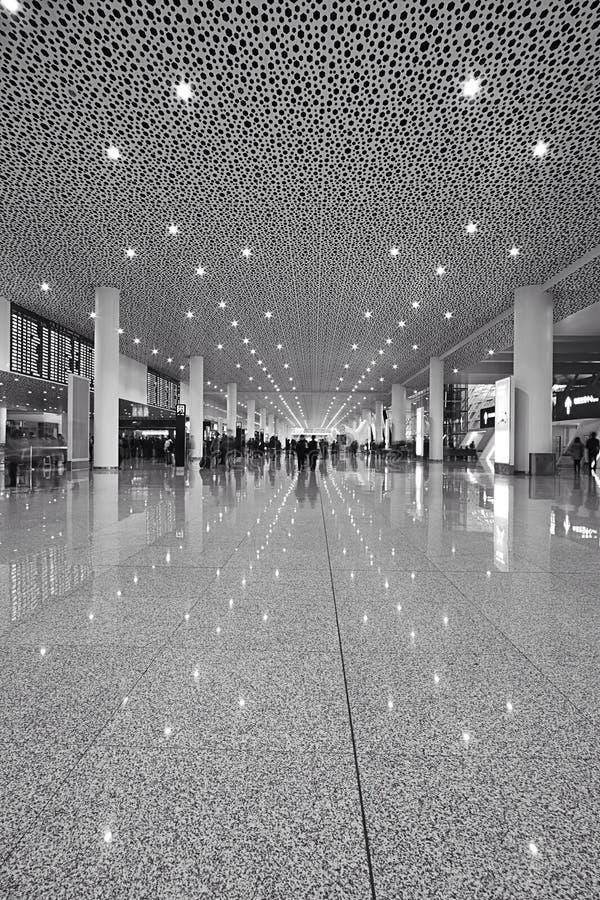 Terminal Shenzhen för internationell flygplats royaltyfria bilder