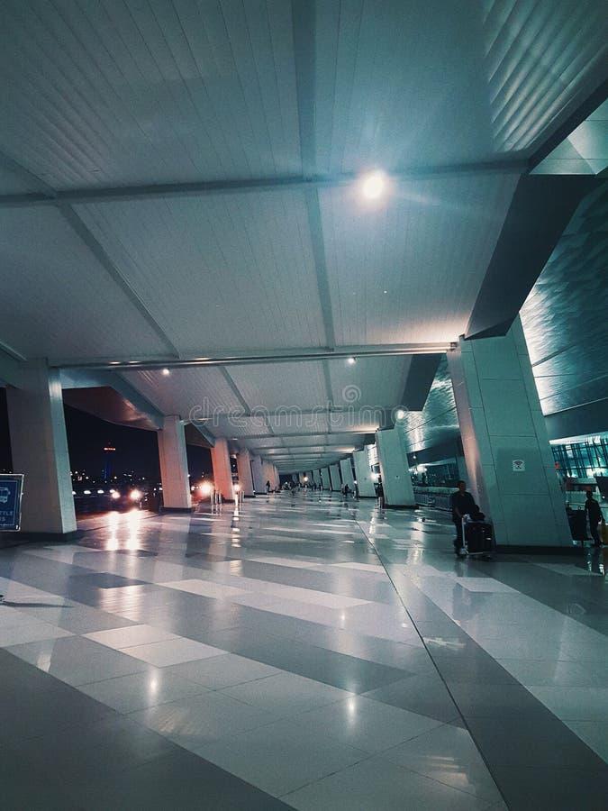 Terminal Soekarno Hatta för internationell flygplats 3 royaltyfri bild