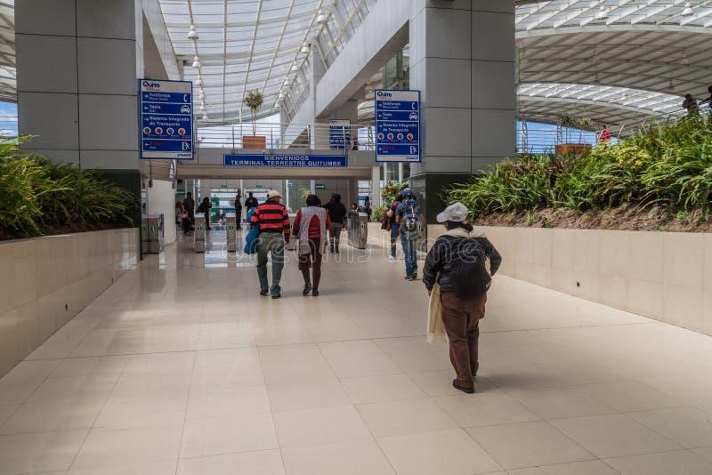 Terminal Terrestre Quitumbe en Quito, Ecuador fotografía de archivo libre de regalías