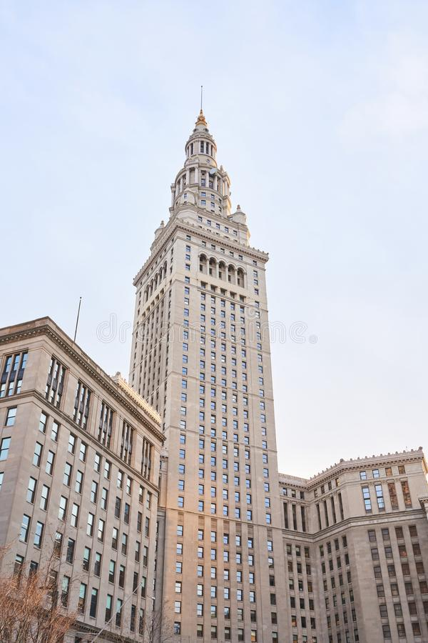 Terminal Tower in Cleveland stock image