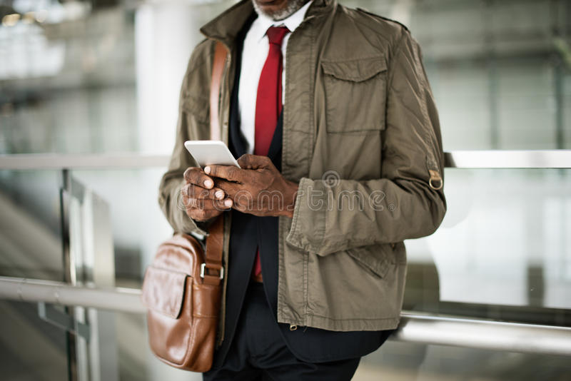 Terminal Transport Travel Urban Overcoat City Concept royalty free stock photography